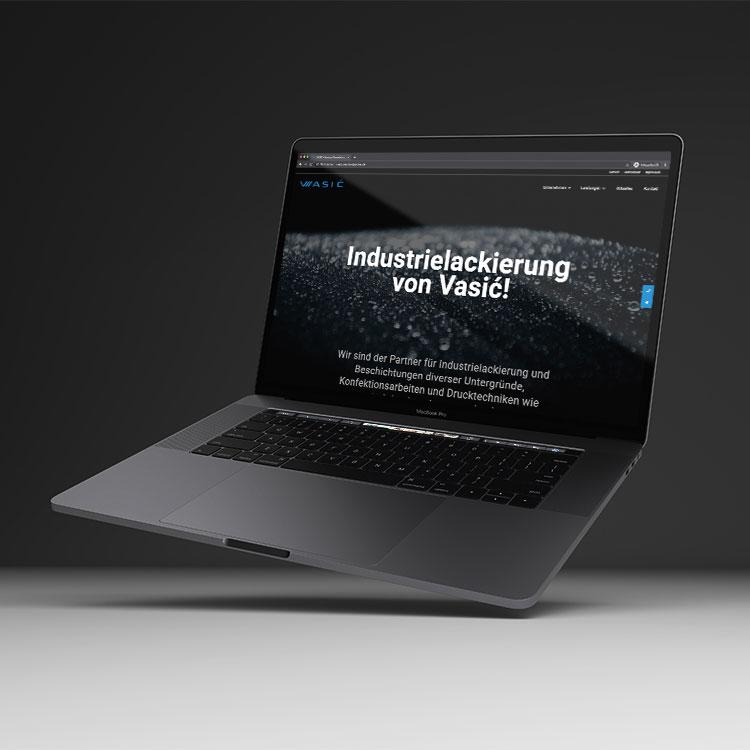 Vasić Industrielackierung: Neue Website 2021
